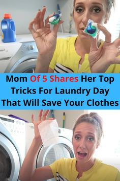 She's like the super hero of all moms, and welcomed us into her fantastically clean and organized laundry room to share some mommy secrets and top tips.
