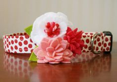 Flower Dog Collar  Valentine Bouquet by pecanpiepuppies on Etsy, $36.00