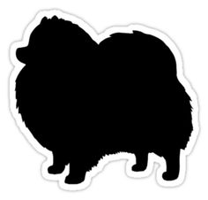 Black Pomeranian Dog Silhouette stickers, t-shirts, and electronics cases #pomeranian