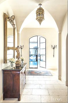 groin vault ceiling, floors, and the french door