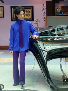 Prince with his piano at Paisley Park