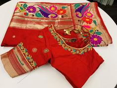 Sarees with Stitched Blouse – Page 4 – Sakkhi Style Cutwork Blouse Designs, Kids Blouse Designs, Wedding Saree Blouse Designs, Saree Blouse Neck Designs, Hand Work Blouse Design, Simple Blouse Designs, Saree Blouse Patterns, Stylish Blouse Design, Designer Blouse Patterns