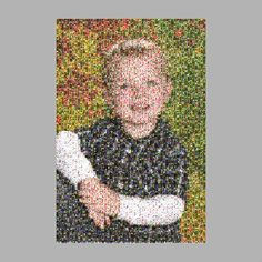 I need to remember to do this! I scanned Owen's artwork into the computer and then created a mosaic of his preschool picture! Need to do before kinder with ALL of his art! $6 for high res photo!