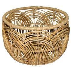 Woven Round Rattan Basket Small - Threshold™ : Target
