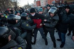 Задержания журналиста New Times на Марше свободы 15 декабря. Фото: Илья Варламов