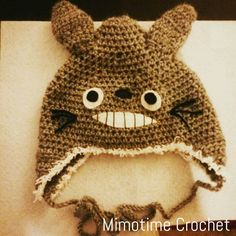 Bonnet #totoro #crochet Réalisé avec la laine #phildar  Création ©MimotimeCrochet