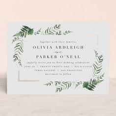Framed in Ferns Foil-Pressed Wedding Invitations by Kristie Kern | Minted