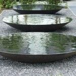 Steel water bowl water feature