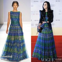 2014 spring summer bohemian dress, star print peacock long dresses, new fashion peacock floral print dresses chiffon dress long-in Dresses f...