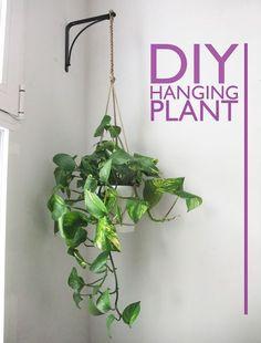 DIY Hanging Plant Holder with bracket