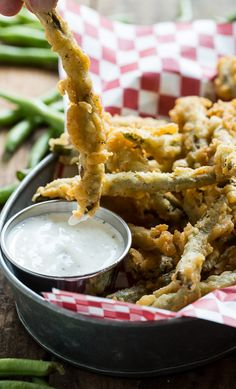 Fried Green Beans | 21 Delicious Snacks You Need To Dunk In Sauce Right Now