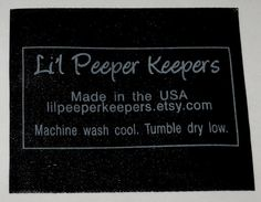 100 - Custom Printed BLACK Satin SCREENPRINTED Clothing Labels - Silver or Gold Imprint - Made in the USA