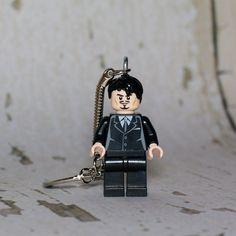 Tony Stark LEGO key chain by boxhounds on Etsy, $10.00