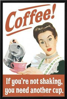 Ephemera - Coffee Shaking Tin Sign is a brand new vintage tin sign made to look vintage, old, antique, retro. Purchase your vintage tin sign from the Vintage Sign Shack and save. I Love Coffee, My Coffee, Coffee Cups, Coffee Talk, Monday Coffee, Starbucks Coffee, Coffee Beans, Cappuccino Coffee, Coffee Barista