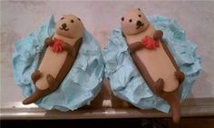 Otter cupcakes are ridiculously cute Cupcakes, Cupcake Cookies, Cakepops, Bible School Snacks, Bakery Business, Creative Desserts, Pretty Cakes, Cute Food, Otters