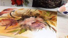 Pequena amostra de como pintar telas com esponja com Luiza Sartori video 1.  parte 2. - YouTube