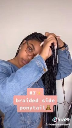 Box Braids Hairstyles For Black Women, Braids Hairstyles Pictures, Braided Hairstyles For Black Women, African Braids Hairstyles, Braids For Black Hair, Ponytail Hairstyles, Blonde Hairstyles, School Hairstyles, Prom Hairstyles