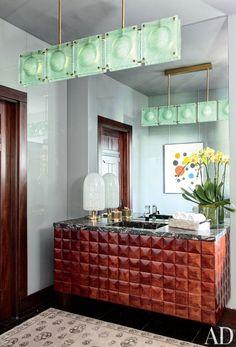 Modern Bathroom by Nancy Heller in Los Angeles, California