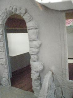 I use patch concrete for this. I carve the rocks with a coat of concrete that is thicker.