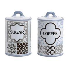 Βάζα για καφέ-ζάχαρη από πορσελάνη - Κουζίνα - Βάζα για καφέ και ζάχαρη σε μοντέρνα γραμμή από πορσελάνη.