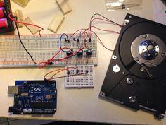 The amateur Programmer: Revitalizing old hard drive motors using Arduino