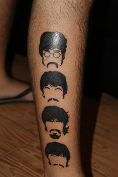 John Lennon, Paul McCartney, George Harrison and Ringo Starr Tattoo – Tattoo Ideas Cover Up Tattoos, Leg Tattoos, Sleeve Tattoos, Cool Tattoos, Tatoos, Abbey Road, Ringo Starr, Beatles Songs, Les Beatles