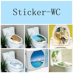 Sticker WC Pedestal Pan Cover Sticker Toilet Stool Commode Sticker home decor Bathroon decor printed flower view Hm Deco, Toilet Stool, Bathroom Wall Decals, Scary Sounds, Clogged Toilet, Star Wall, Party Shop, Bathroom Interior Design, Flower Prints