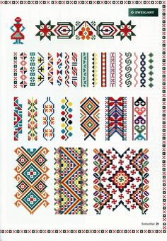Beading _ Pattern - Motif / Earrings / Band ___ Square Sttich or Bead Loomwork ___ Gallery.ru cross stitch borders -- would make beautiful headband/earwarmers! Cross Stitch Borders, Cross Stitch Designs, Cross Stitching, Cross Stitch Embroidery, Hand Embroidery, Cross Stitch Patterns, Cross Stitch Geometric, Bead Loom Patterns, Beading Patterns