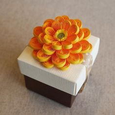 quilled flower for box lid