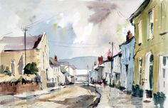 John Hoar Watercolor Landscape Paintings, Watercolor Artists, Watercolor And Ink, Watercolour Painting, Watercolours, Painting Courses, Collor, Urban Sketching, Pictures To Paint