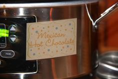 Mexican Hot Chocolate is a perfect alternative to our Margarita Punch.