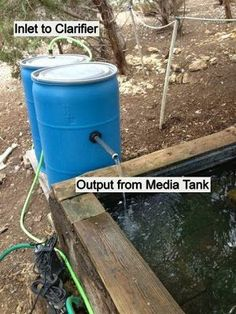 how to build a duck pond filter Backyard Ducks, Chickens Backyard, Backyard Landscaping, Pond Filter System, Duck Pens, Duck Duck, Dog Pond, Duck Coop, Quail Coop
