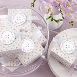 """Cute As a Button"" Baby Shower Favor Box (Set of 24)"