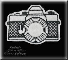 Kamera - Retro Aufnäher Applikation gestickt M von Blinni-Fashion auf DaWanda.com