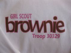Personalized Girl Scout Brownie Short Sleeve by thewhimsydaisy, $10.00