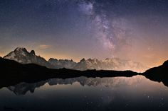 Milky Way over the Mont-Blanc Anton, Voyager Loin, The Mont, Chamonix, 365 Photo, French Photographers, Forest Park, I Want To Travel, Sky And Clouds