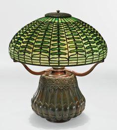 "tiffany studios a rare ""fern"" table   lighting   sotheby's n09358lot7y874en"