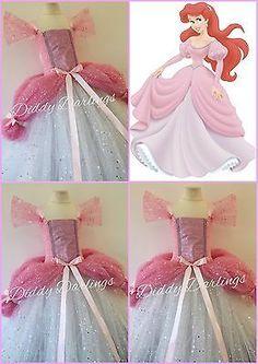 Sparkly Ariel Tutu Dress Little Mermaid Tutu Costume Princess Pink Ballgown