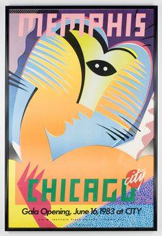 CHRISTOPHER GARLAND  CHICAGO CITY STORE MEMPHIS POSTER, 1983  -constructivism-