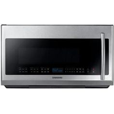 Samsung 30 in. 2.1 cu. ft. Over the Range Microwave in Stainless Steel with Sensor Cooking and LED Cooktop Lighting-ME21F707MJT at The Home Depot