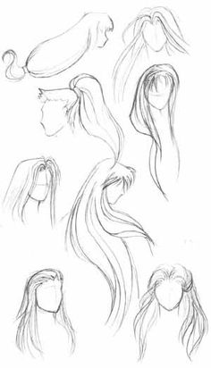 Inspiration: Flowing Hair ----Manga Art Drawing Anime Hairstyle Long---