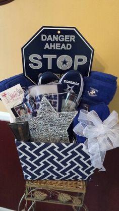 dallas cowboy gift basket | Gifts | Pinterest | Cowboys, Dallas ...