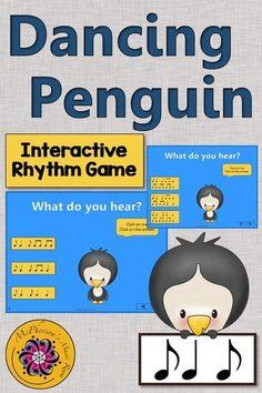 Dancing Penguin {Solfa Sol Mi} Interactive Music Game | Elementary ...
