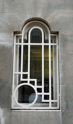 Art Deco Window - Princess Court, Queensway, Notting Hill, London, England, GB - @~ Watsonette