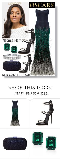 """""""Red Carpet At The Oscars"""" by bonolon on Polyvore featuring Elizabeth Kennedy, Giuseppe Zanotti, Anya Hindmarch, CARAT* London and Bling Jewelry"""