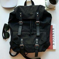 NEW Asos Canvas Backpack NWOT Asos smart canvas backpack in black ASOS Bags Backpacks