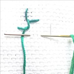 Quill stitch - Alternating buttonhole stitch - Hand embroidery Tutorials