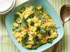 Gluten-free doesn't have to mean bland flavor. This mac and cheese uses goat cheese, aged white Cheddar and gluten-free pasta. Throw in some dark lacinato kale and you have a complete meal in about 25 minutes.