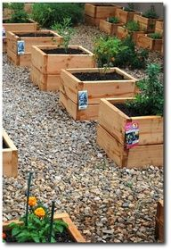 mini raised beds, perfect for herbs to keep them from going crazy wild