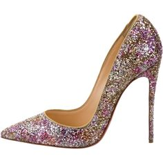 7c3d8ee7783 Pre-owned Christian Louboutin Glitter So Kate Pumps ( 595) ❤ liked on  Polyvore featuring shoes